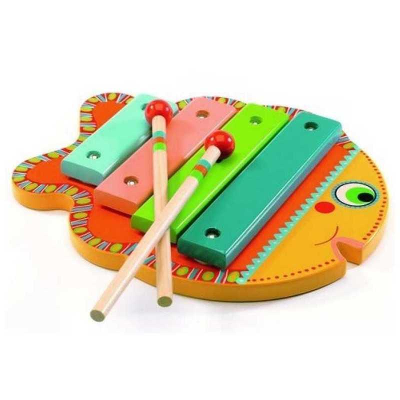 instrument de musique en bois poisson animambo dj6001 xylophone pour enfants. Black Bedroom Furniture Sets. Home Design Ideas