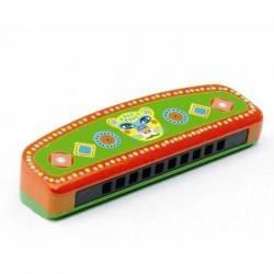 ARMONICA A BOCCA in legno e metallo Djeco Animambo strumento musicale per bambini DJ06011