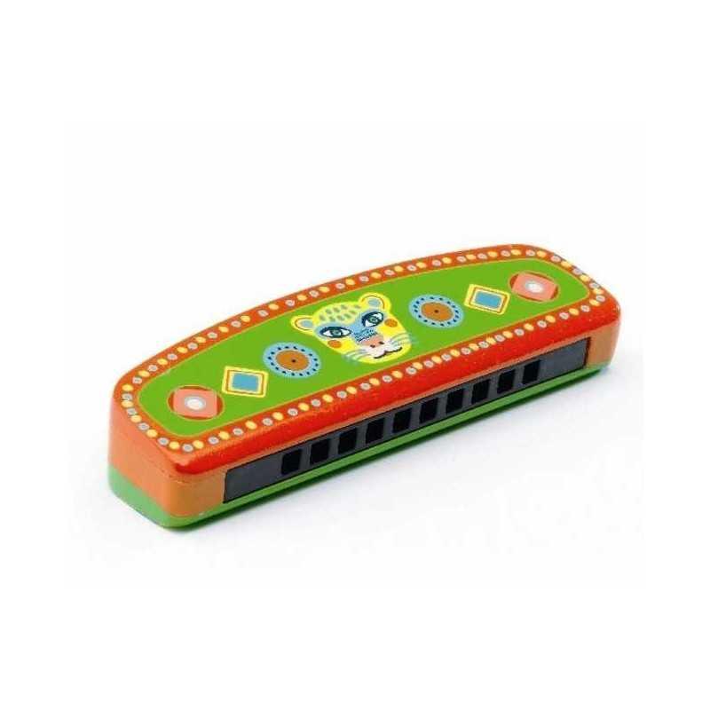 harmonica en bois et m tal djeco animambo instrument de musique pour enfants dj06011. Black Bedroom Furniture Sets. Home Design Ideas