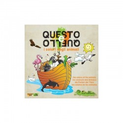 QUESTO E QUELLO i colori degli animali CREATIVAMENTE 2-8 giocatori GIOCO PUZZLE età 4+