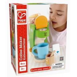MACCHINETTA DEL CAFFE' gioco di imitazione cucina legno età 3+ Hape E3106