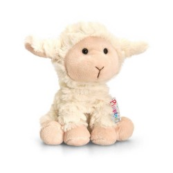 PELUCHE AGNELLO 14 cm Pippins Keel Toys CLASSICO pupazzo bambola pet lamb