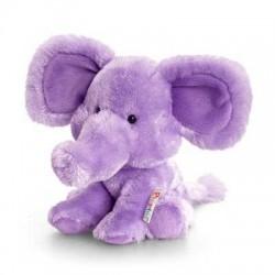 PELUCHE ELEFANTE VIOLA 14 cm Pippins Keel Toys CLASSICO pupazzo bambola pet