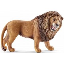 LEONE CHE RUGGISCE animali in resina SCHLEICH miniature 14726 Wild Life LION