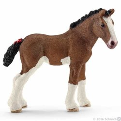 PULEDRO CLYDESDALE animali in resina SCHLEICH miniature 13810 cavalli