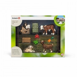 KIT ZOO DI ANIMALI DOMESTICI set da gioco FARM LIFE Schleich 21052 ANIMALI miniature in resina