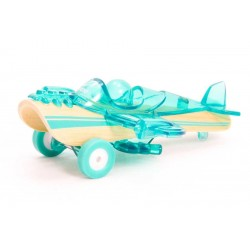 Piccolo AEREO AZZURRO auto in legno BAMBOO macchinine HAPE mini veicoli GIOCO età 3+