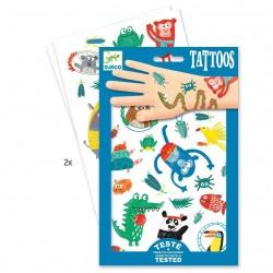 TATUAGGI MUSETTI ANIMALI tattoo per bambini DJECO DJ09576 rimuovibili con acqua