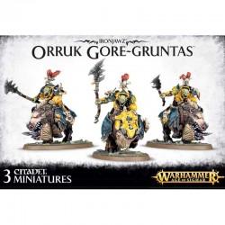 Ironjaws Orruk GORE GRUNTAS gioco di miniature WARHAMMER Age of Sigmar ORKI Games Workshop 3 ORCHI SU CINGHIALE