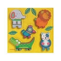 """Puzzle rilievo """"Happy Jungle"""" dai 12 mesi"""