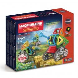 MAGFORMERS Mini Tank Set 27 PZ vehicle line COSTRUZIONI 3D magnetiche RADIOCOMANDATO età 3+