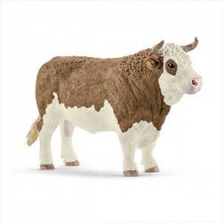 TORO PEZZATO ROSSO SIMMENTAL animali in resina SCHLEICH miniature 13800 Farm Life BULL