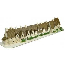 BIBURY ARLINGTON ROW villaggio AEDES ARS 1601 kit di modellismo con mattoni in ceramica 5550 PEZZI