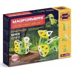 MAGFORMERS Foresta Set 32 PEZZI my first COSTRUZIONI magnetiche FOREST 3D età 3+