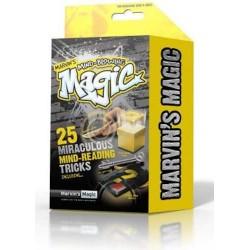 Marvin's Magic MIND-BLOWING TRICKS set kit 25 TRUCCHI MAGICI magia LETTURA MENTE giallo ILLUSIONISTA età 8+