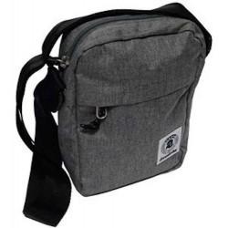 Fresh MINI Shoulder BAG Office INVICTA tinta unita GRIGIO scomparto tasca zip TRACOLLA