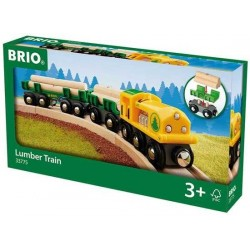 TRENO PORTA TRONCHI locomotiva TRENINO portatronchi BRIO world 33775 railway FERROVIA train LUMBER età 3+
