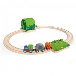 FERROVIA DELLA GIUNGLA jungle train journey set IN LEGNO trenino HAPE età 18 mesi +