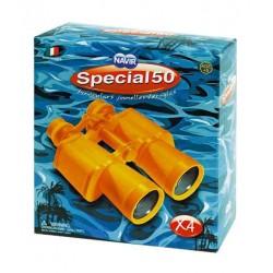 BINOCOLO giallo 4X con custodia SPECIAL 50 Navir TRACOLLA obbiettivi 45 mm BORSA RIGIDA età 5+