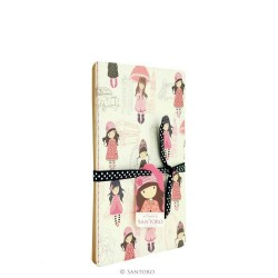 SET 2 NOTEBOOK 56 pagine bianche TACCUINO plain pages LONDON Traveller GORJUSS 633GJ02 Santoro