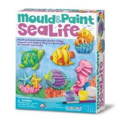 Modella e colora MONDO MARINO kit artistico 4M mould & paint MAGNETI E SPILLE età 5+