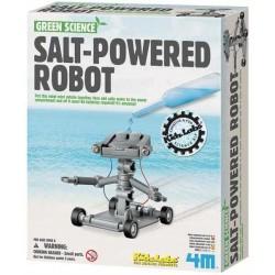 Salt Powered Robot VEICOLO FUNZIONANTE AD ACQUA SALATA kit 4M scientifico GREEN SCIENCE età 5+
