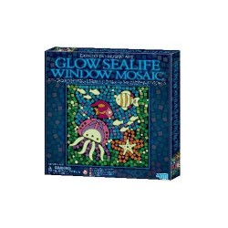 GLOW SEALIFE Window MARE Mosaic Art MOSAICO CHE SI ILLUMINA AL BUIO kit artistico 4M età 7+
