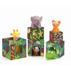 MAXI TOPANIJUNGLE stacking game DJECO impilaggio DJ09101 animali CUBI età 18 mesi +