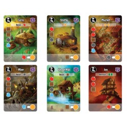 VILLAGES OF VALERIA gioco di carte KICKSTARTER Daily Magic Games CARDS età 14+