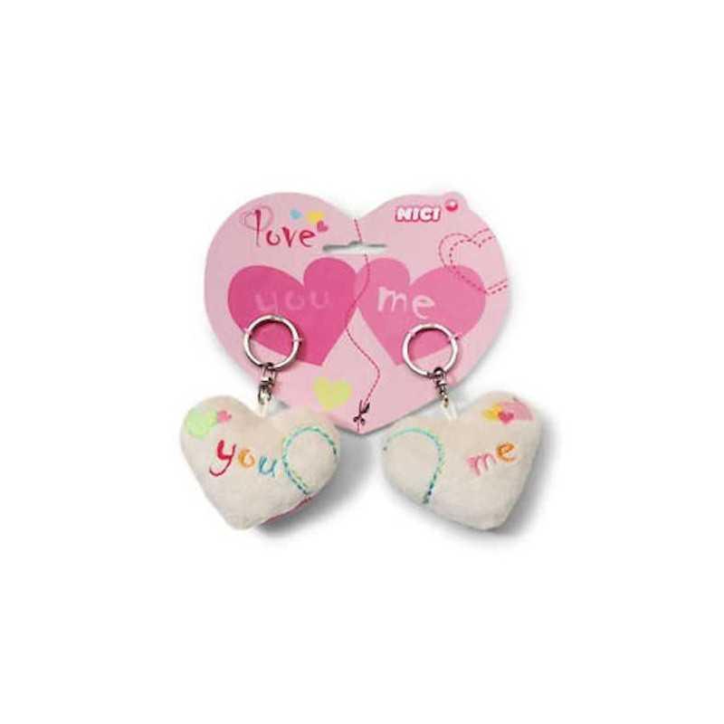 Cuori coppia di porta chiavi a forma di cuore 38566 peluche nici san valentino - Letto a forma di peluche ...