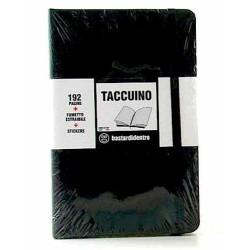 TACCUINO notebook POCKET tascabile BASTARDIDENTRO pagine a righe NERO + fumetto estraibile + stickers BASTARDI DENTRO