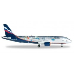 AEROFLOT airbus AIR BUS A320 Sochi 2014 HERPA WINGS russian airlines skyteam 1:500 LIMITED EDITION
