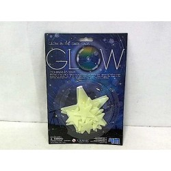 SET STELLE GLOW 16 stelline fluorescenti STARS adesive 4M SI ILLUMINANO AL BUIO età 3+