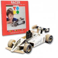 RACER To Do AUTO DA CORSA F1 in cartone DA MONTARE e colorare 98 PEZZI kit 100% MADE IN ITALY 5+