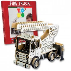 FIRE TRUCK To Do CAMION DEI POMPIERI in cartone DA MONTARE e colorare 133 PEZZI kit 100% MADE IN ITALY 6+