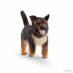 CANE DA PASTORE cucciolo GERMAN SHEPHERD puppy TEDESCO Schleich 16832 miniature in resina ANIMALI età 3+