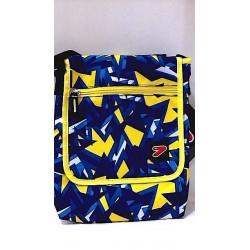 TABLET SHOULDER BAG borsa porta tablet CUSTODIA busta SEVEN bicolore GRIGIO GIALLO accessori case TRACOLLA