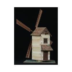 Hölzerne Windmühle