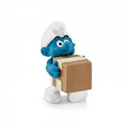 PUFFO LOGISTICA the lost village SMURFS i puffi SCHLEICH miniature in resina originali 3+