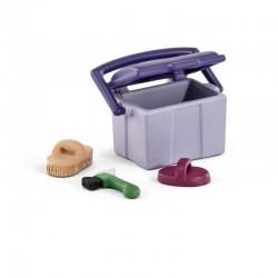 SET CURA ANIMALI Farm Life SCHLEICH miniature in resina 42283 accessori CAVALLI età 3+