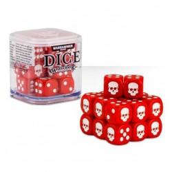 SET DI 20 DADI colorati CLASSICI Warhammer ROSSI cubo GAMES WORKSHOP Age of Sigmar e 40k