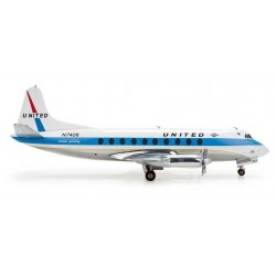 UNITED AIRLINES VICKERS VISCOUNT 700 HERPA WINGS 553681 scala 1:200 model