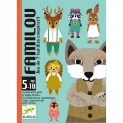 FAMILOU gioco di carte delle 7 famiglie cooperativo Djeco DJ05103 dai 5 anni