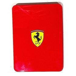 PENNA + TACCUINO Scuderia Ferrari BIRO E CUSTODIA IN METALLO panini ROSSO latta