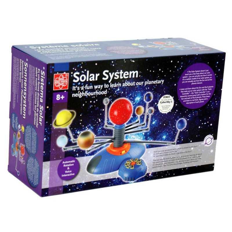 Solar Sistem Kit SISTEMA SOLARE INTERATTIVO set scientifico PIANETI rotazione automatica VOCE ESPLICATIVA età 8+