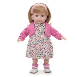 BAMBOLA con vestito a FIORI ROSA Carla BEBE' 36 cm BERENGUER Boutique DOLL bambolotto MADE IN SPAIN età 3+