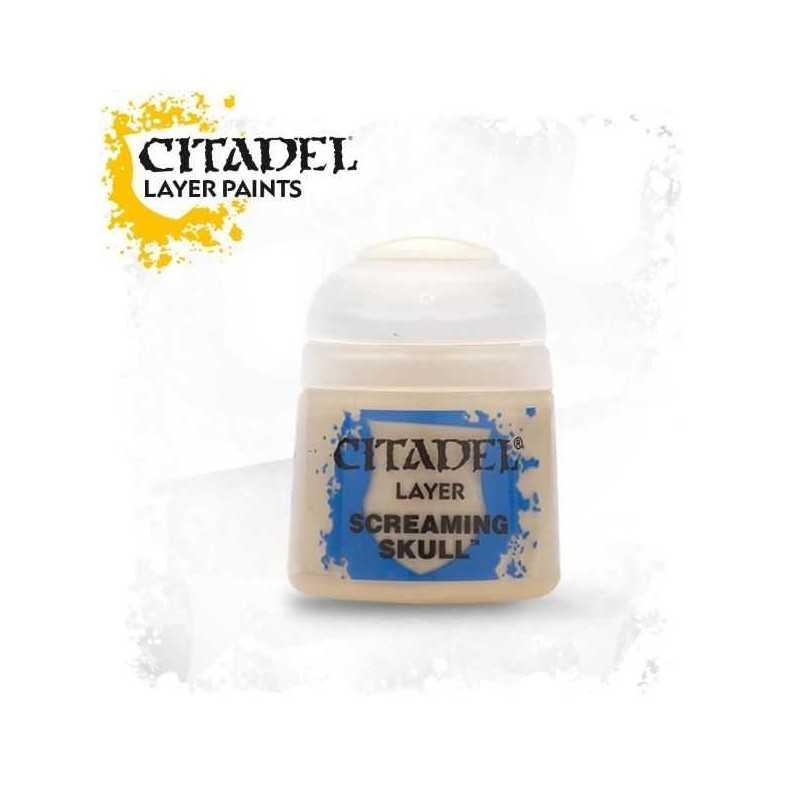 SCREAMING SKULL colore LAYER Citadel WARHAMMER Games Workshop BEIGE 12 ml