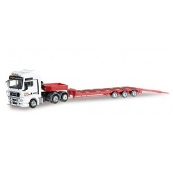 MAN TGX XXL LOW BOY SEMITRAILER CIRCUS KRONE Herpa 304030 Auto Trucks Camion scala 1:87 model