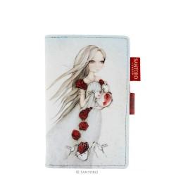 PORTAFOGLI SMALL Santoro ROSE TEA wallet MIRABELLE accessori 342EC05 bianco e rosso
