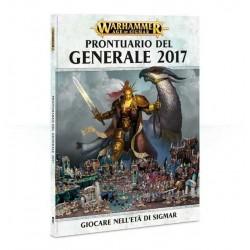 PRONTUARIO DEL GENERALE 2017 libro WARHAMMER giocare nell'età di Sigmar MANUALE a colori 161 PAGINE